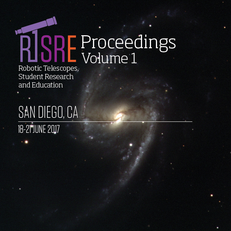 View Vol. 1 No. 1 (2018): Robotic Telescopes, Student Research and Education (RTSRE) Proceedings
